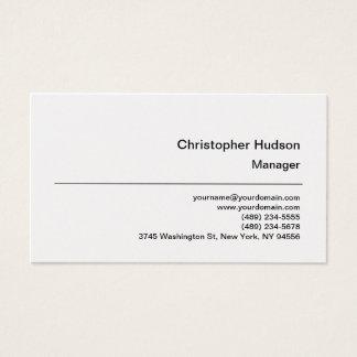 Platinum Simple Plain Manager Business Card