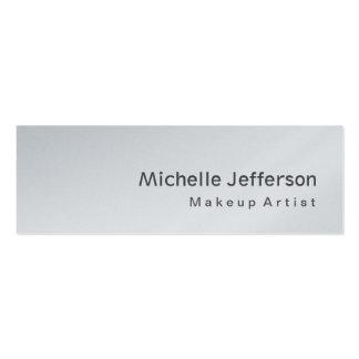 Platinum Special Modern Skinny Grey Makeup Artist Pack Of Skinny Business Cards