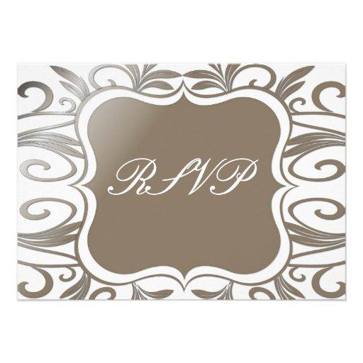 Platinum Swirl Emblem RSVP Card Personalized Announcement