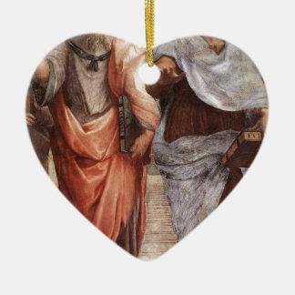 Plato and Aristotle Ceramic Heart Decoration