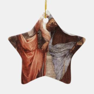 Plato and Aristotle Ceramic Star Decoration