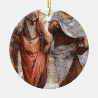 Plato and Aristotle Round Ceramic Decoration