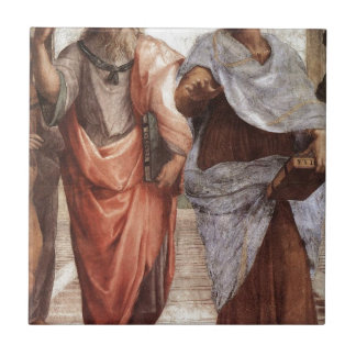 Plato and Aristotle Small Square Tile