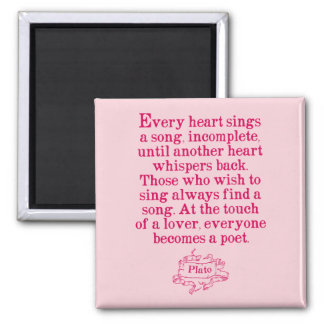 Plato - Love/Song/Poetry Quote Magnet