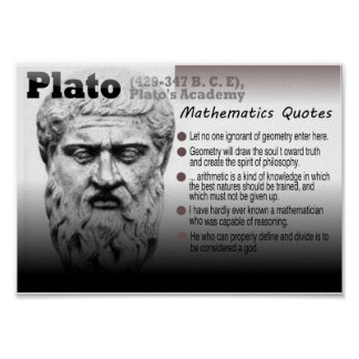 Plato Mathematics quotes Poster