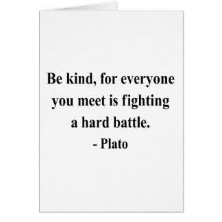 Plato Quote 1a Card