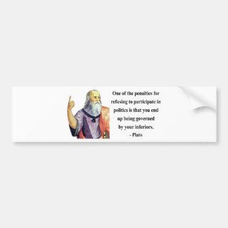 Plato Quote 2b Bumper Sticker