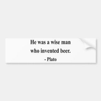 Plato Quote 3a Bumper Sticker