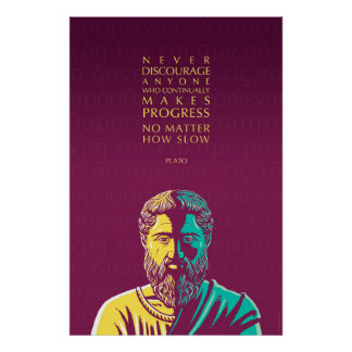 Plato quote: Progress Poster