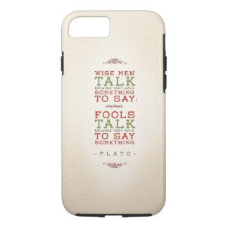 Plato Quote Regarding Talking: iPhone Tough Case