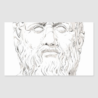 Plato Rectangular Sticker