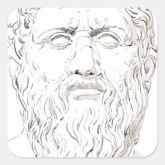 Plato Square Sticker