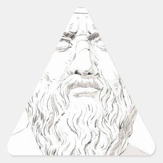 Plato Triangle Sticker
