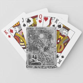 platonic love story carving poker deck