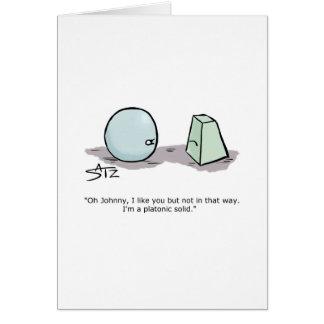 Platonic solids valentine  card