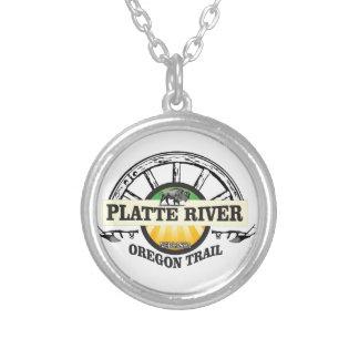 platte river ot marker silver plated necklace