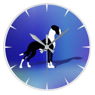 Plattendogge Large Clock