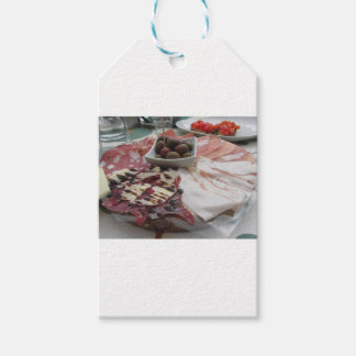 Platter of cold cuts with rustic ham prosciutto