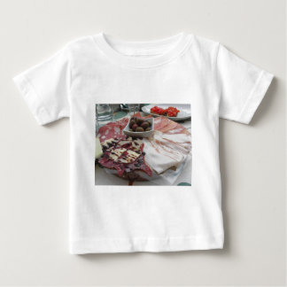 Platter of cold cuts with rustic ham prosciutto baby T-Shirt