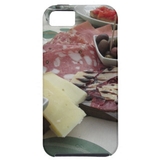 Platter of cold cuts with rustic ham prosciutto case for the iPhone 5
