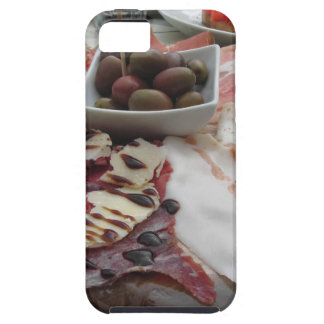 Platter of cold cuts with rustic ham prosciutto iPhone 5 cover