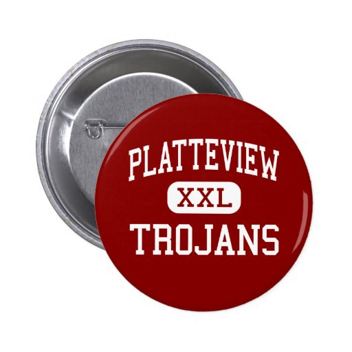 Platteview - Trojans - High - Springfield Nebraska Buttons