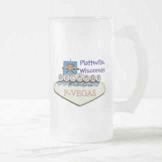 Platteville, Wisconsin P-Vegas Water Bottles Mug