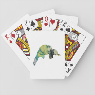 Platypus art playing cards
