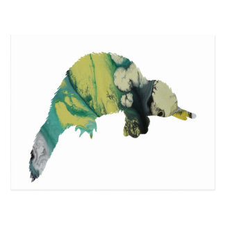 Platypus art postcard