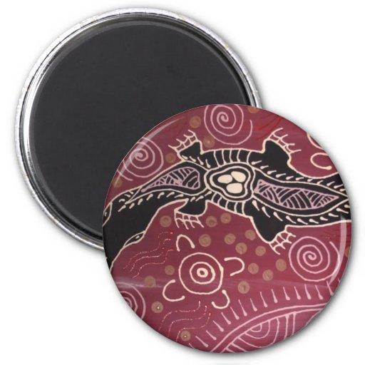 Platypus Dreaming Red by Mundara Koorang Refrigerator Magnet