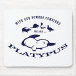 Platypus Mouse Pad - Blue