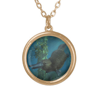 Platypus Round Pendant Necklace