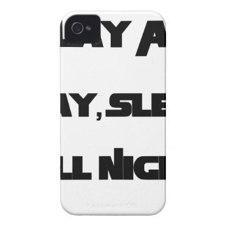 Play All Day, Sleep All Night iPhone 4 Covers