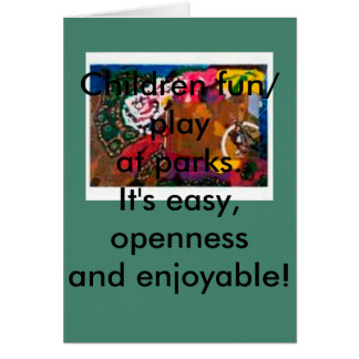 Play at Park, Greeting Card,Home Pets,Postage card