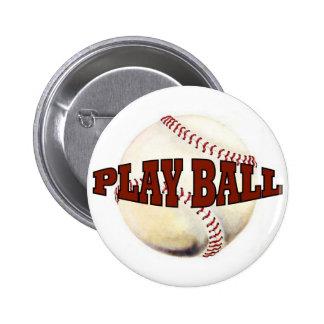 PLAY BALL 1 6 CM ROUND BADGE