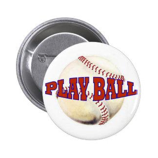 PLAY BALL 2 6 CM ROUND BADGE