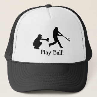 Play Ball Black and White Baseball Sports Hat