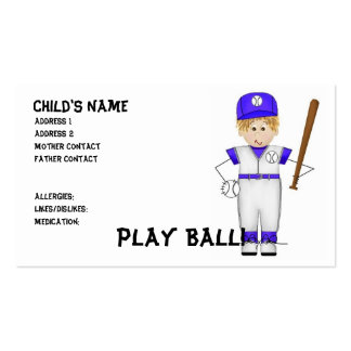 Play Ball! Mommy Cards Business Card