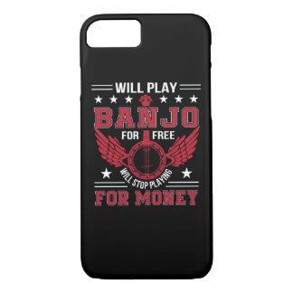 Play Banjo Frree Stop Playing Money Shirt iPhone 8/7 Case