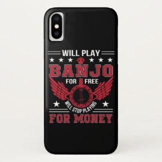 Play Banjo Frree Stop Playing Money Shirt iPhone X Case