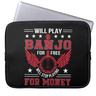 Play Banjo Frree Stop Playing Money Shirt Laptop Sleeve