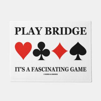 Play Bridge It's A Fascinating Game (Card Suits) Doormat