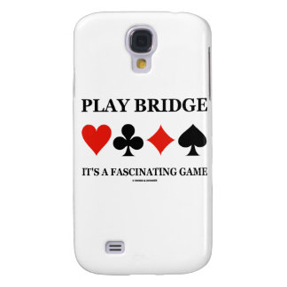 Play Bridge It's A Fascinating Game (Card Suits) Galaxy S4 Case