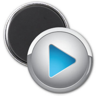 PLAY BUTTON 6 CM ROUND MAGNET