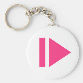 Play button key ring