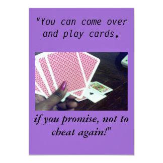 "Play cards-Don't cheat, invitations 5"" X 7"" Invitation Card"