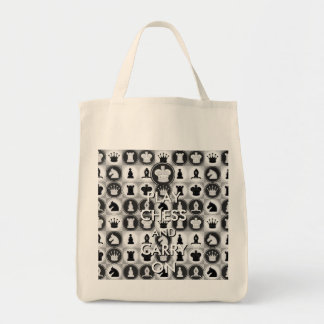 Play Chess and Carry On Grocery Tote Bag