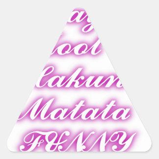 Play Cool Hakuna Matata .png Triangle Sticker