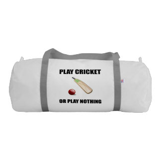 Play Cricket Or Nothing Black Gym Bag