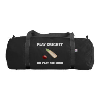 Play Cricket Or Nothing Gym Bag
